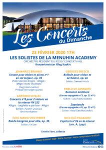 Concert du dimanche, 23 février 2020