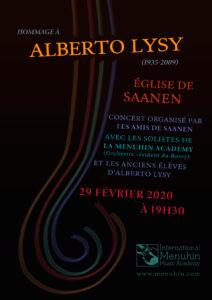 Hommage à Alberto Lysy, Concert du 29 février 2020