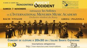 Rencontres Orient-Occident : Concert du samedi 7 novembre 2020