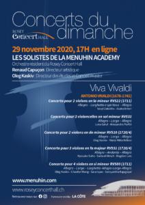 Concert 29 novembre ONLINE