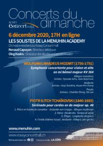 Concert du 6 décembre ONLINE