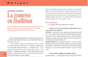 [PRESSE] La jeunesse en ébullition, Scènes Magazine, juin 2021