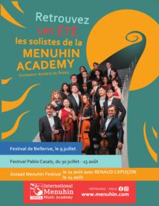 Retrouvez cet été les solistes de la Menuhin Academy